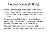 plug in hybrids phevs