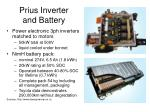 prius inverter and battery