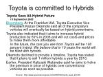 toyota is committed to hybrids31