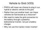 vehicle to grid v2g