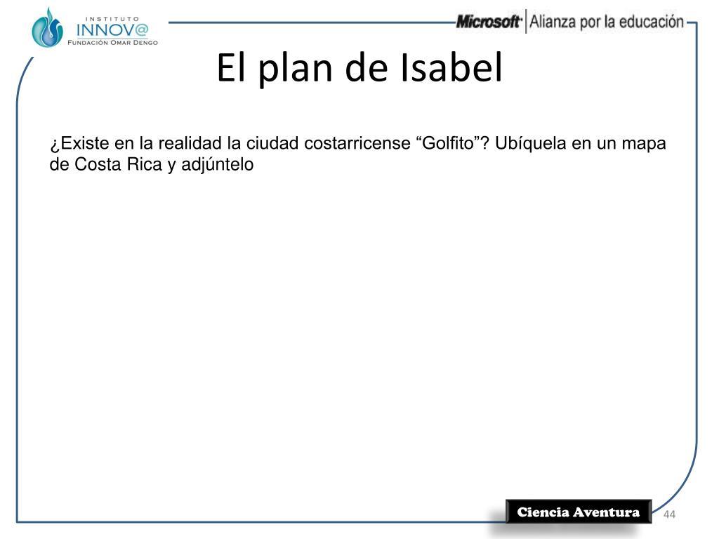 El plan de Isabel