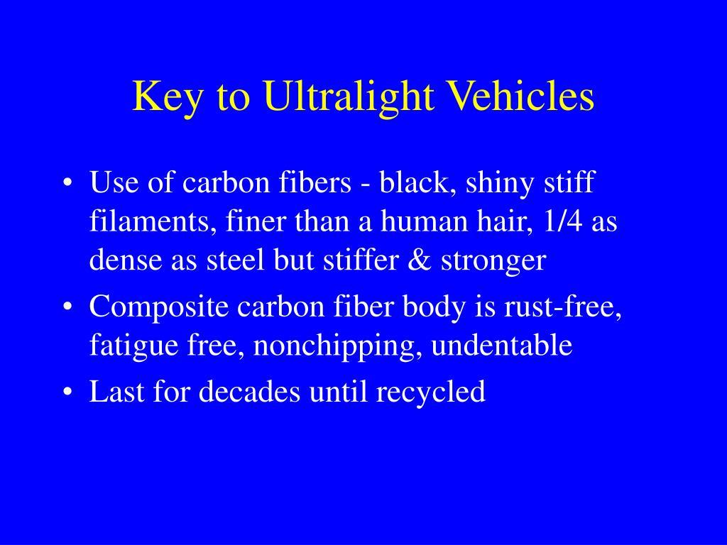 Key to Ultralight Vehicles