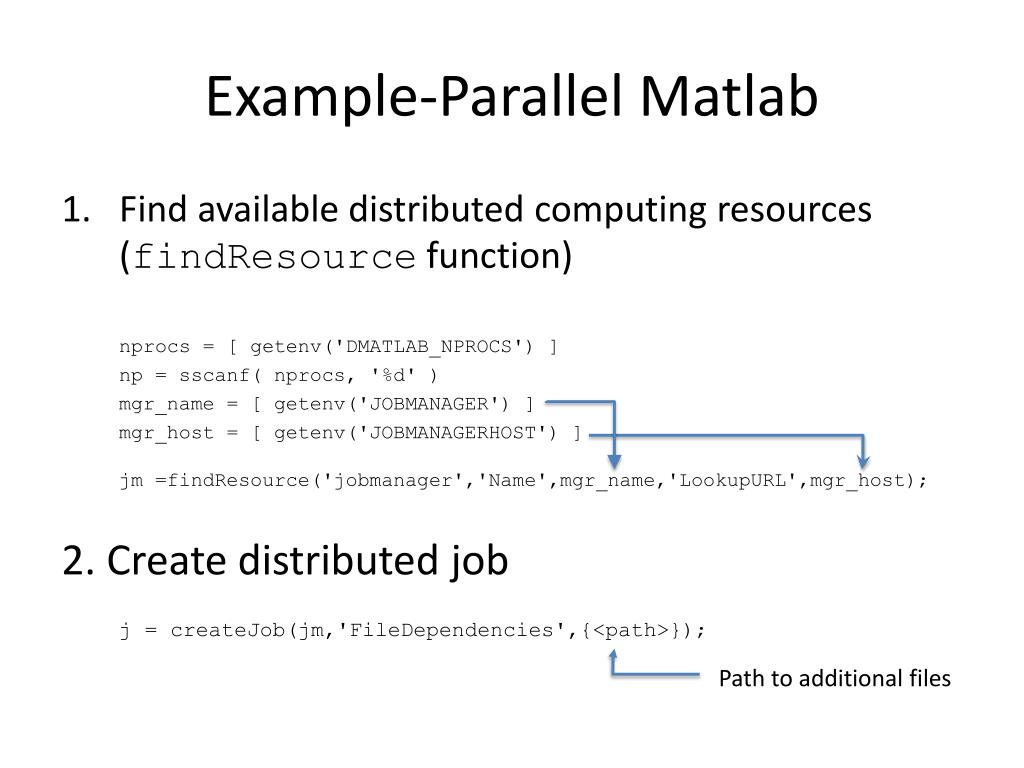 Example-Parallel Matlab