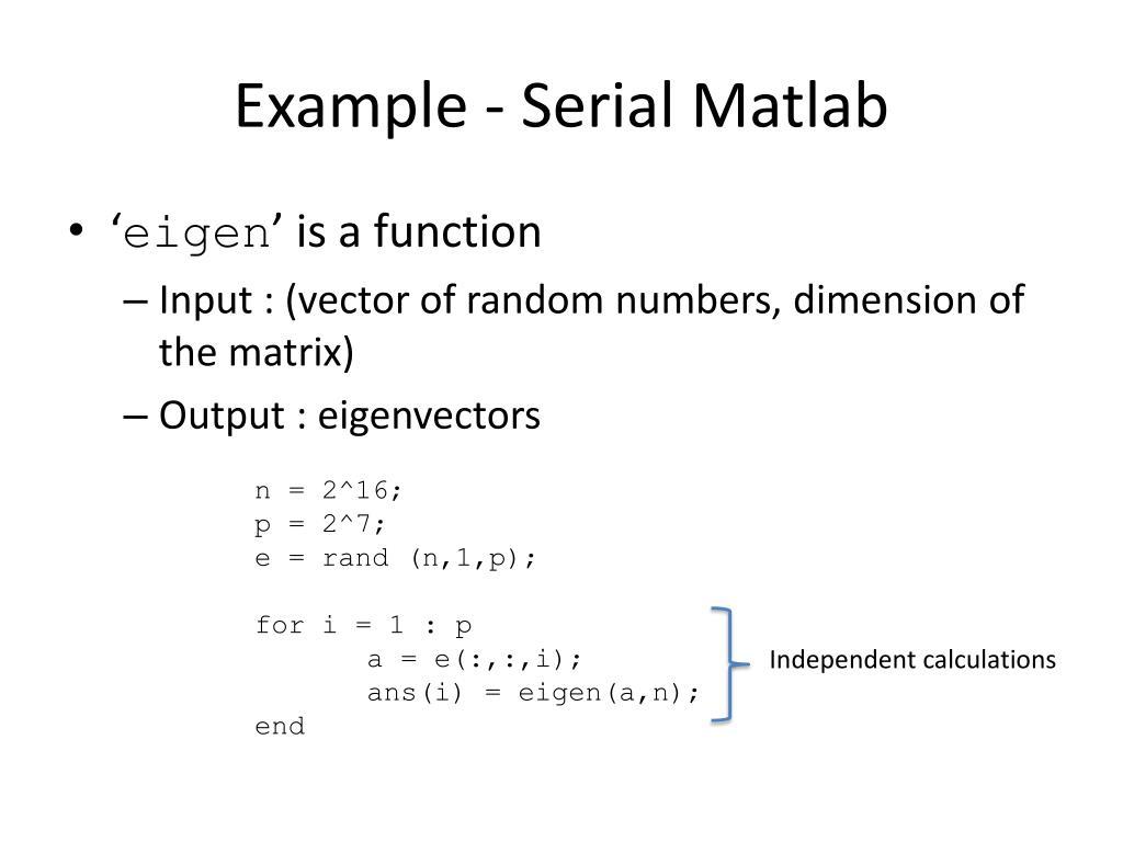 Example - Serial Matlab