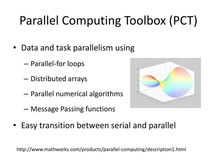 Parallel computing toolbox pct
