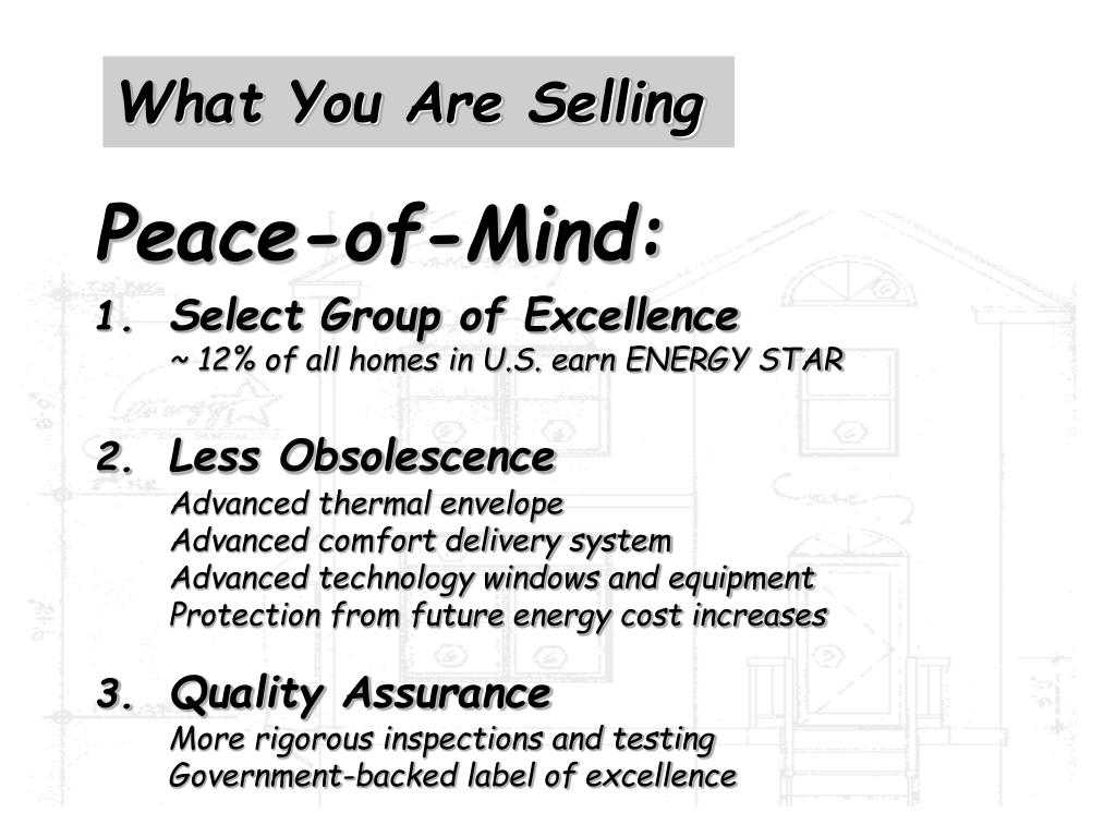 What You Are Selling