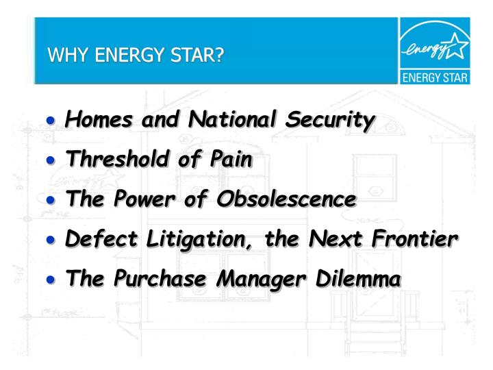 Why energy star