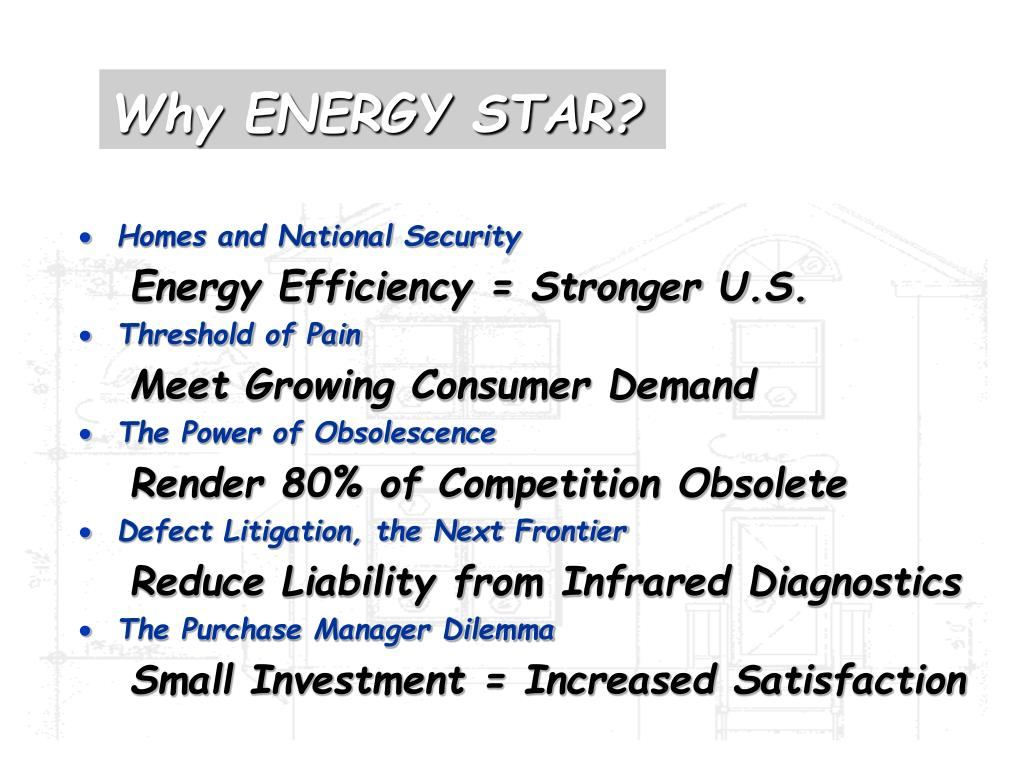 Why ENERGY STAR?