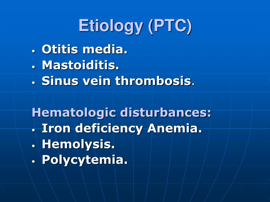 Etiology (PTC)