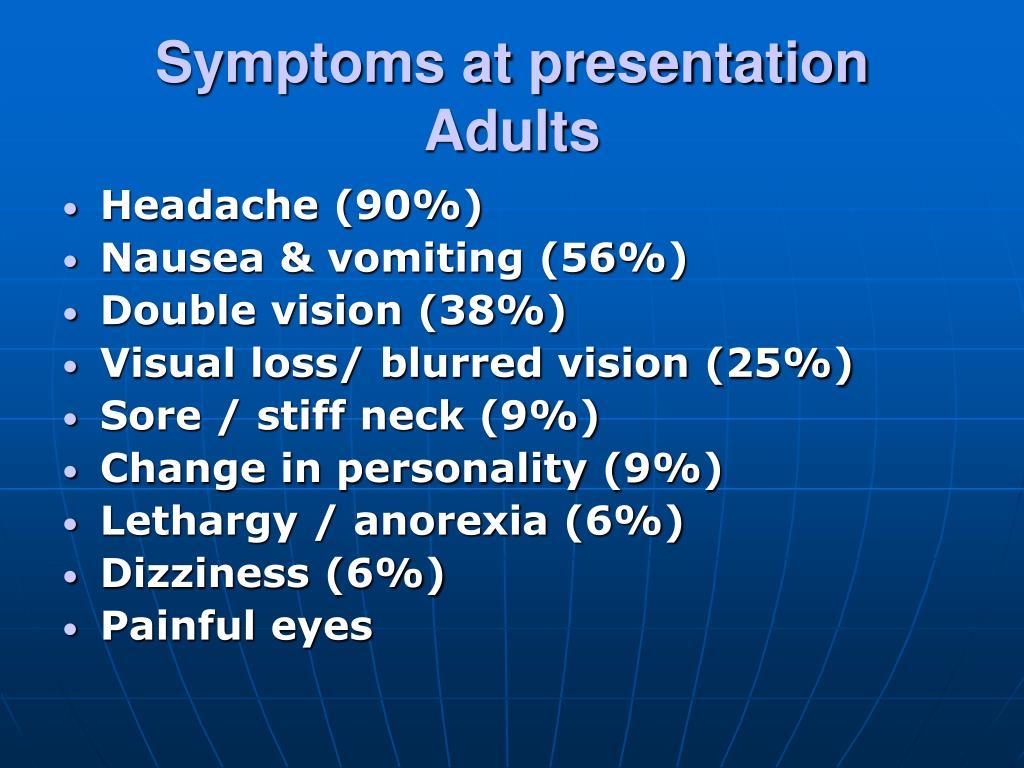 Symptoms at presentation