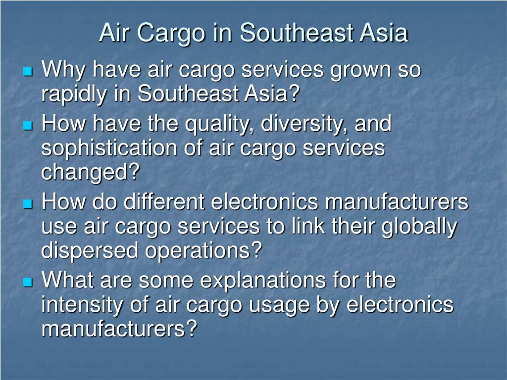 Air Cargo in Southeast Asia