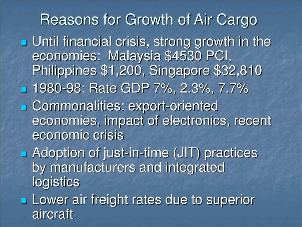 Reasons for Growth of Air Cargo