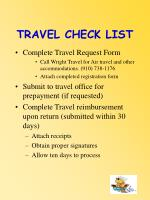 travel check list