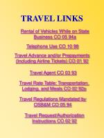 travel links