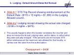 8 lodging default amount dates not revised