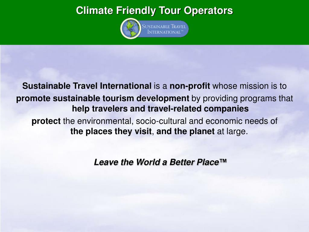 climate friendly tour operators l.