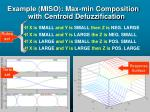 example miso max min composition with centroid defuzzification