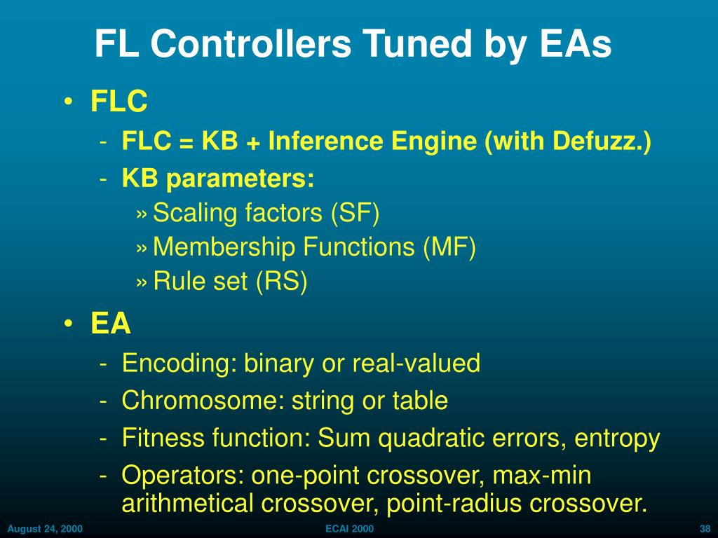 FL Controllers Tuned by EAs