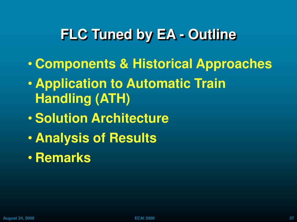 FLC Tuned by EA - Outline