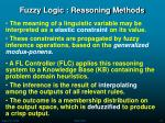 fuzzy logic reasoning methods