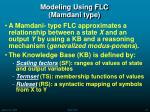 modeling using flc mamdani type