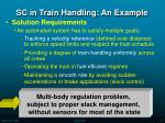 sc in train handling an example41