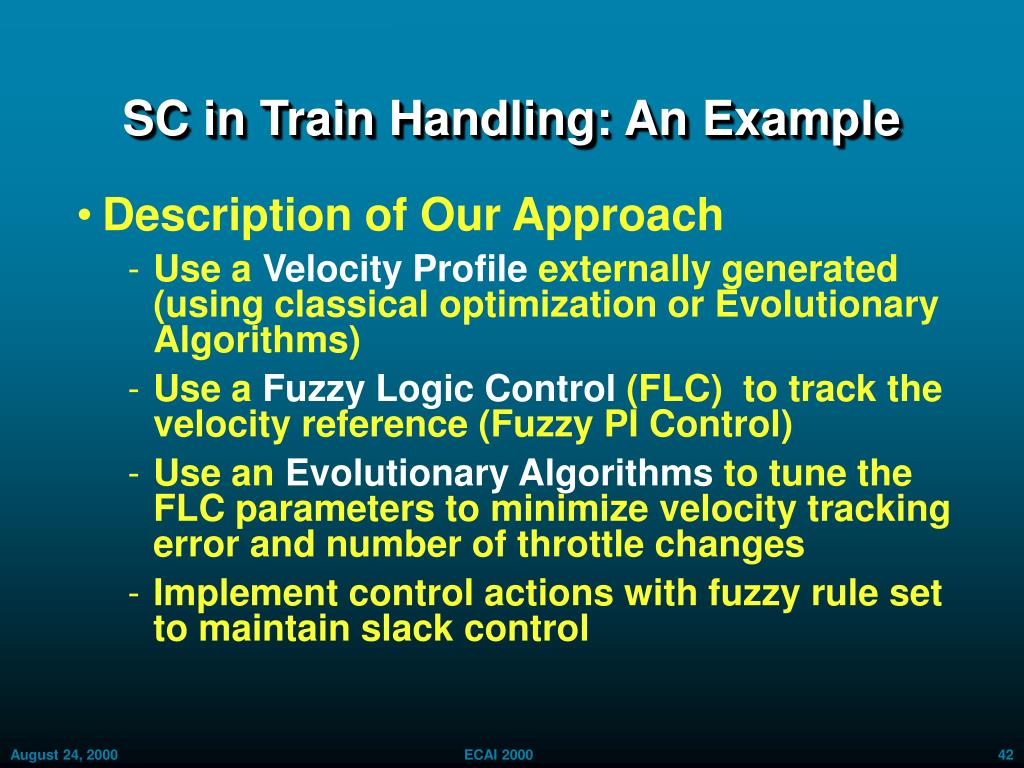 SC in Train Handling: An Example