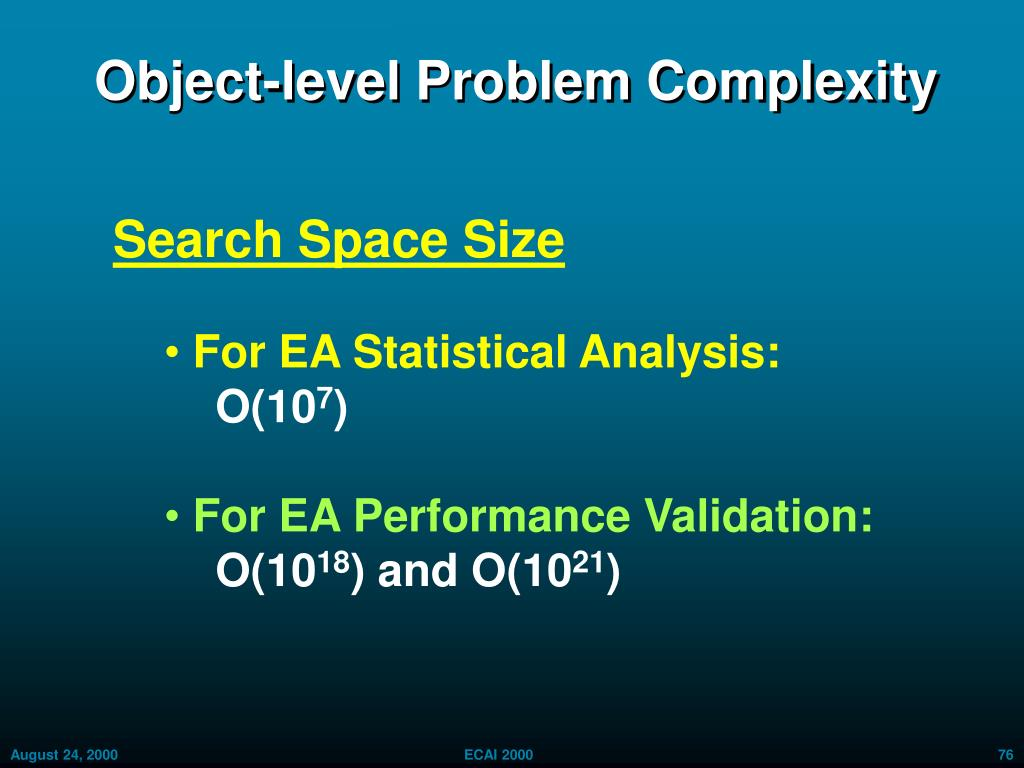 Object-level Problem Complexity