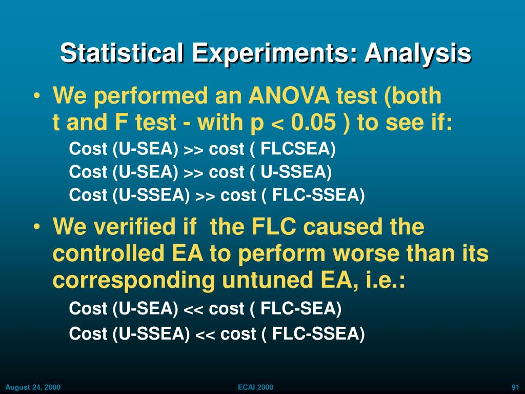 Statistical Experiments: Analysis