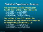 statistical experiments analysis