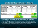 statistical experiments results