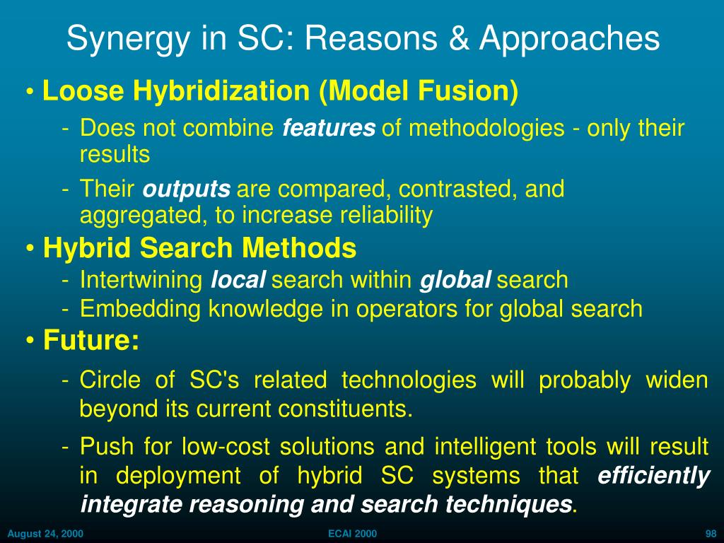 Synergy in SC: Reasons & Approaches
