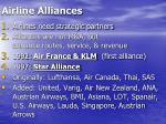 airline alliances