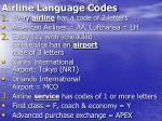 airline language codes