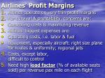 airlines profit margins
