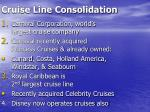cruise line consolidation