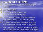 example of ym rm