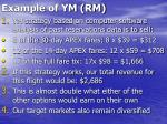 example of ym rm40