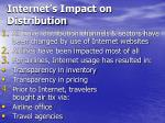 internet s impact on distribution