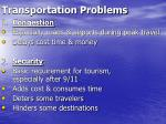 transportation problems