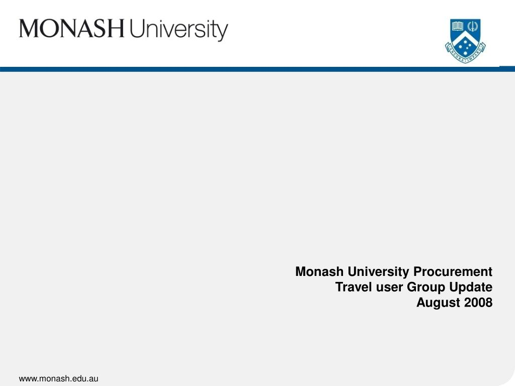 Monash University Procurement