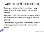 what to do after rejection