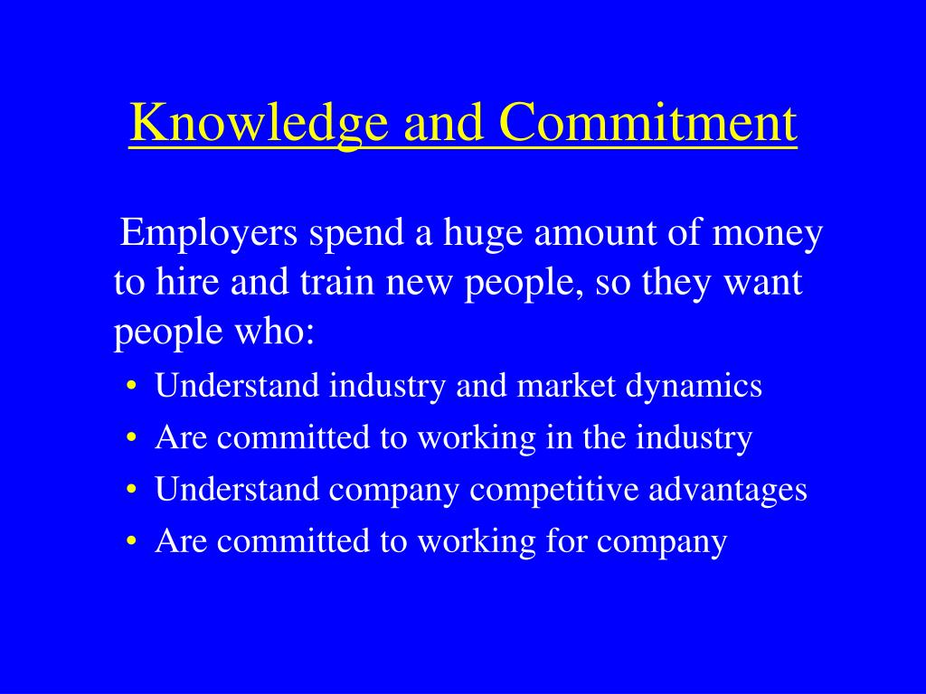 Knowledge and Commitment