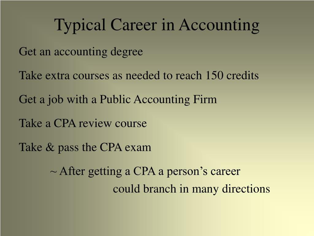 Typical Career in Accounting