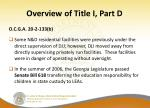 overview of title i part d11
