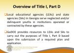 overview of title i part d6