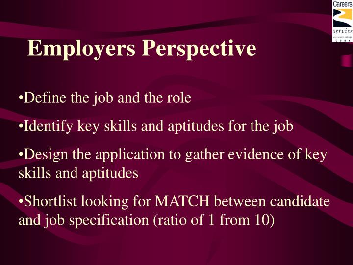 Employers perspective3