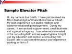 sample elevator pitch13