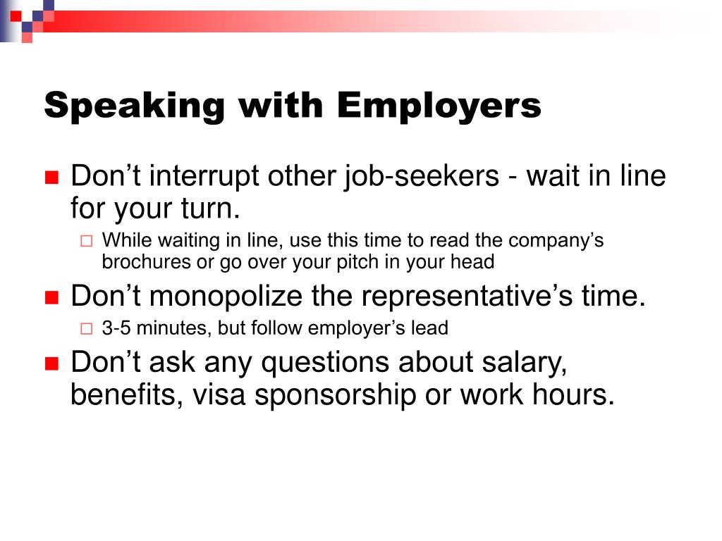 Speaking with Employers