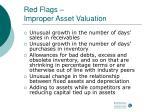 red flags improper asset valuation42